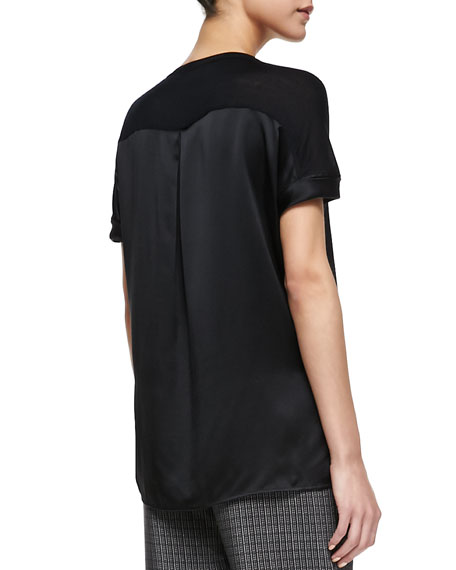Satin/Jersey Relaxed Tee