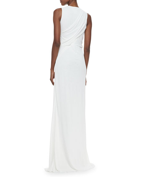 Chiffon Sleeveless V-Neck Gown