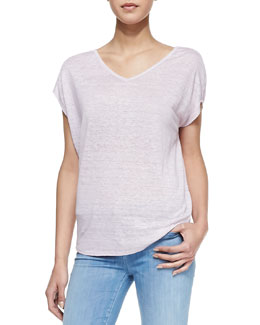 Vince Cocoon Slub-Knit Top