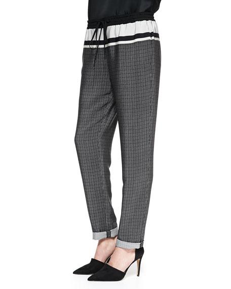Printed Silk Track Pants