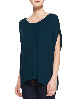 Three Dots Dolman-Sleeve Jersey Tunic