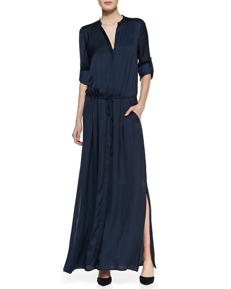 Flowy Maxi Shirtdress