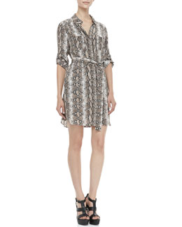 Diane von Furstenberg Polly Python-Print Dress
