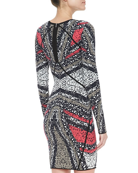 Kenya Long-Sleeve Printed Dress