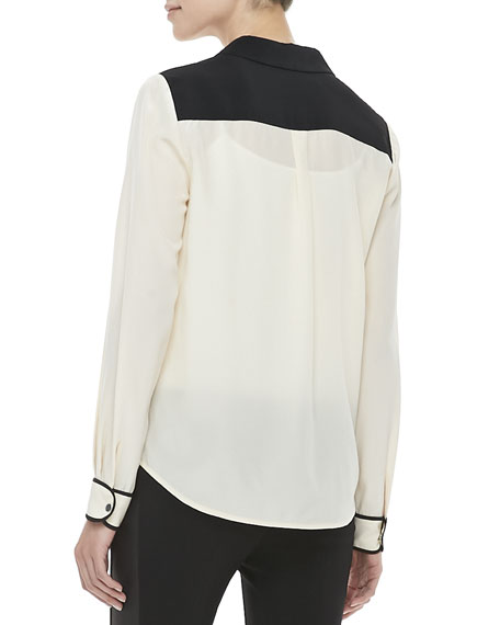 Marah Long Sleeve Contrast Blouse