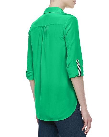 Lorelei Two Chiffon Top, Hot Green
