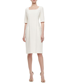 Lafayette 148 New York Iveta Front-Pocket Wool Dress