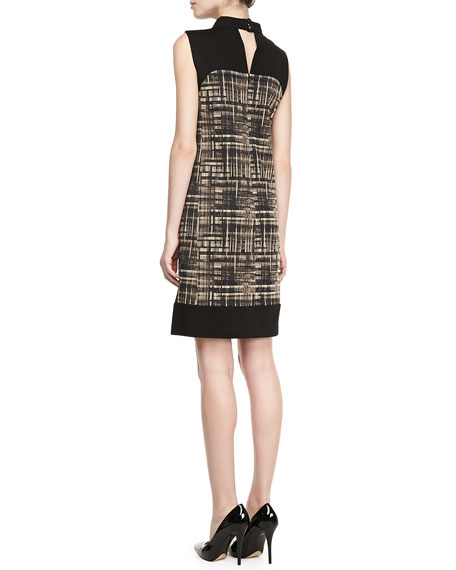 Holden Graphic-Print Colorblock Dress