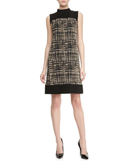 Lafayette 148 New York Holden Graphic-Print Colorblock Dress