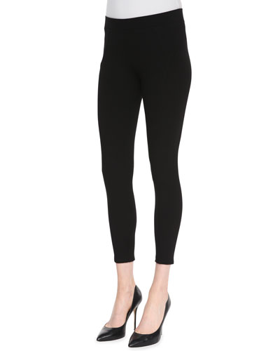 Three Dots Seamed Ponte Ankle Leggings