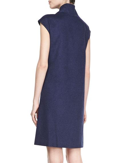 Milan Leather-Trim Dress