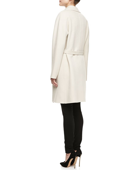 Wilma Textured Long-Sleeve Coat