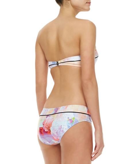 Floral Rise Bandeau Bikini, Multicolor