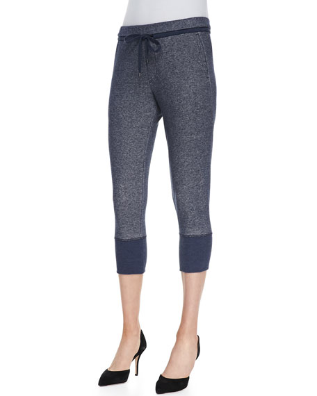 Ribbed-Cuff Sweater Pants
