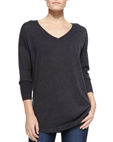 Chyanne Colorblock Raglan-Sleeve Sweater