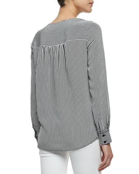 Louisa Striped Colorblock Blouse