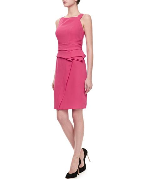 Sleeveless Asymmetric Peplum Dress