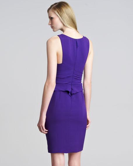 Asymmetric Sleeveless Peplum Dress