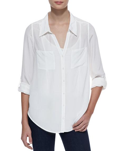 Cartel Silk Long-Sleeve Blouse