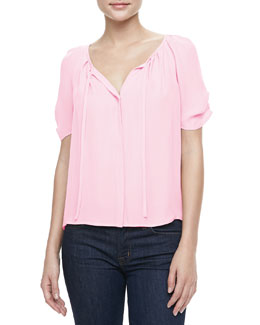Joie Berkeley Tie-Neck Blouse