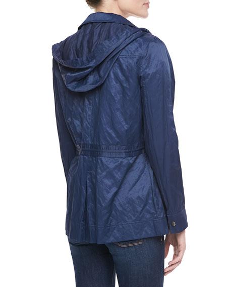 Vera Jane Zip-Front Jacket, Navy