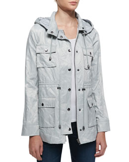 Joie Vera Jane Hooded Jacket, Silver Fox