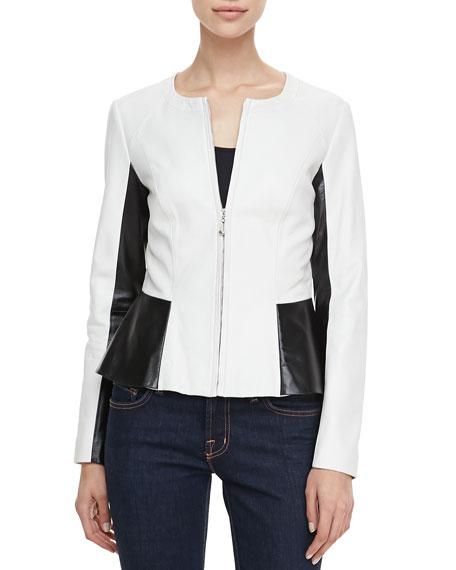 Long Sleeve Black/White Motorcycle Jacket
