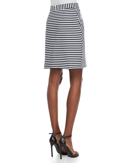 Scuba Stripe Skirt