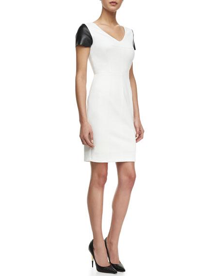 Fashion Doll Leather-Cap Sleeve Dress