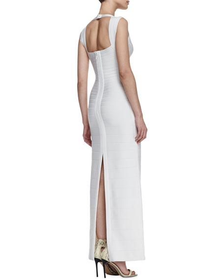 Sweetheart-Neck Bandage Long Gown