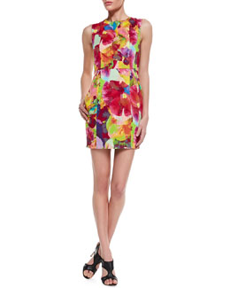 Kelli & Talulah Creative Life Floral-Print Fitted Dress