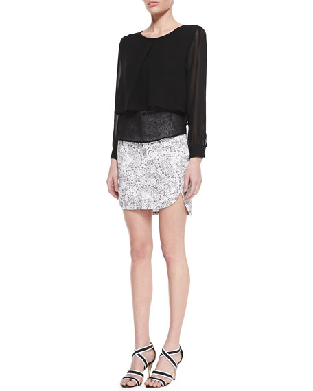 Infinite Wisdom High-Waist Skirt