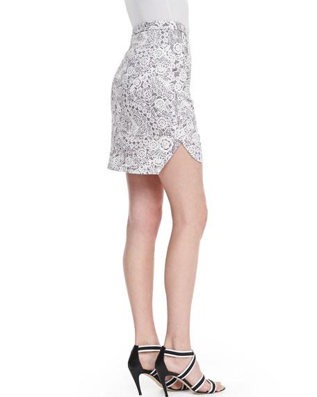 Infinite Wisdom High-Waist Skirt