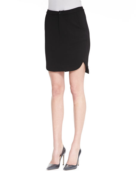 Infinite Wisdom Ponte High-Waist Skirt