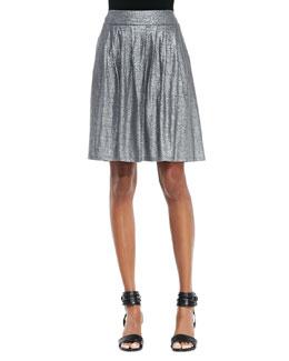 Eileen Fisher Organic Linen Shimmer Skirt