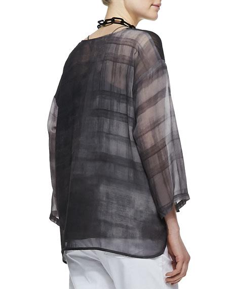 Printed Silk Chiffon Top