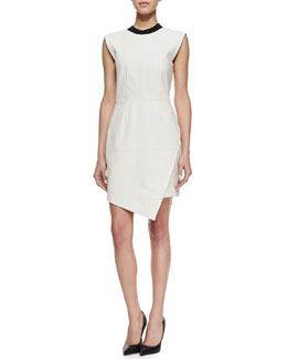 Trina Turk Dalia Leather Sleeveless Dress
