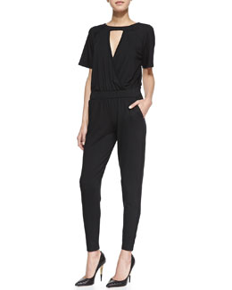Trina Turk Manhattan Short-Sleeve Jumpsuit