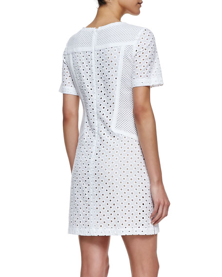 Marquise Short-Sleeve Lace Dress