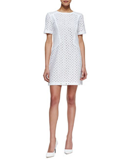 Trina Turk Marquise Short-Sleeve Lace Dress