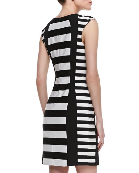 Phlox Striped Sheath Dress