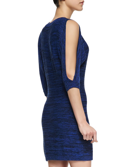 Cypress Slit-Shoulder Knit Dress