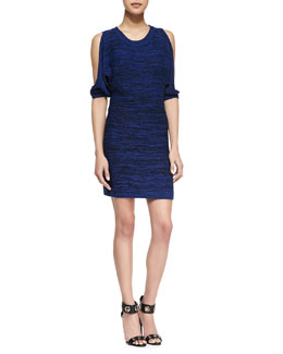 Trina Turk Cypress Slit-Shoulder Knit Dress