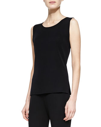 Sleeveless Knit Tank, Black