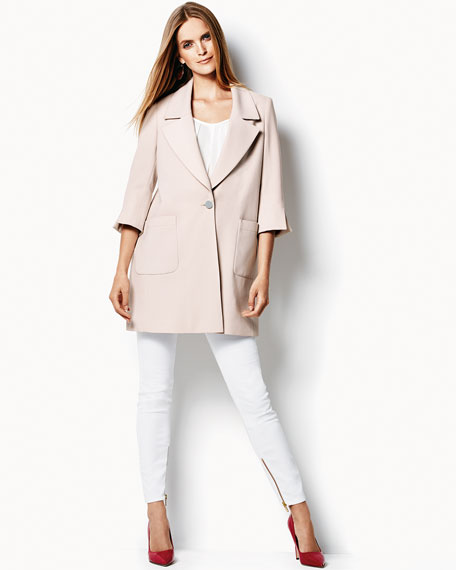Jasmine Boyfriend One-Button Blazer