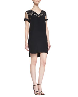 Rebecca Minkoff Lorelei Silk Lace High-Low Hem Dress