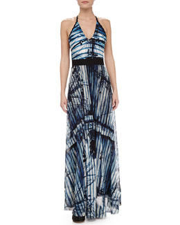 Jean Paul Gaultier Merchant Ship-Print Coverup Maxi Skirt
