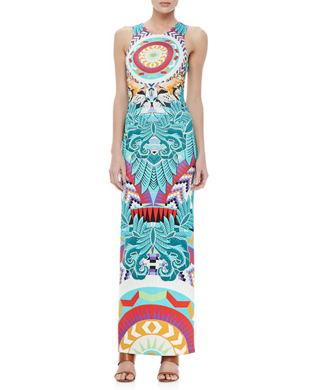 Printed Column Maxi Dress