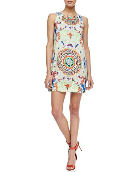 Sleeveless Printed Shift Dress