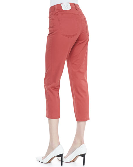 Chloe Cropped Newport Twill Pants